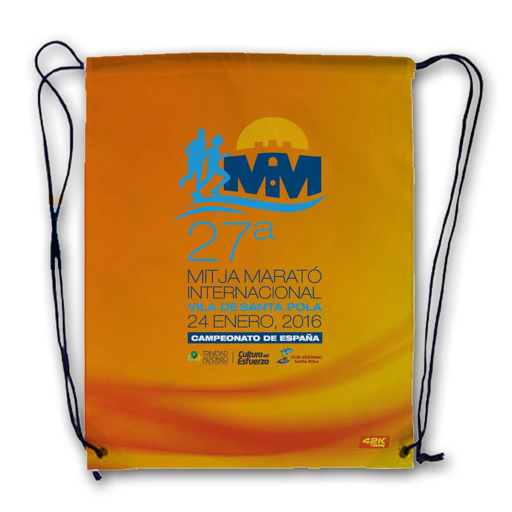 Gymbag Conmemorativa de la 27 Mitja Marató Interncional Vila de Santa Pola