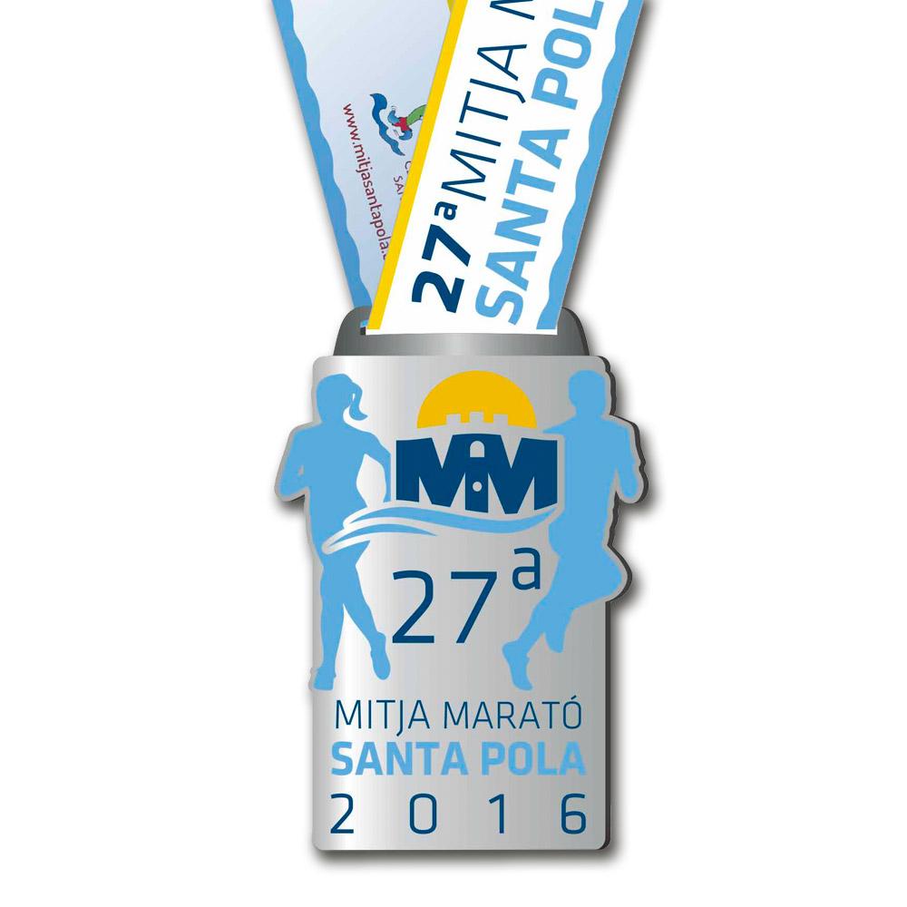 Medalla Conmemorativa de la 27 Mitja Marató Interncional Vila de Santa Pola