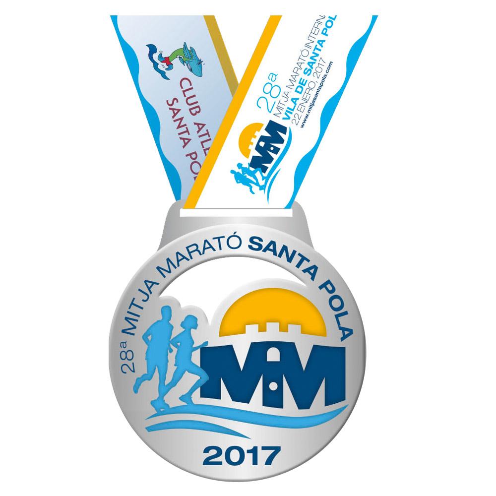 Medalla de la 28 Mitja Marató Interncional Vila de Santa Pola